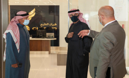 Gulf Air's Chairman Visits the Falcon Gold Lounge in the New Terminal of Bahrain International Airport