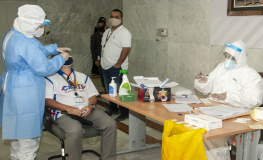 Gulf Air Conducts Optional COVID-19 Tests for Staff